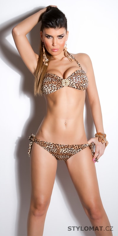 Dámské leopardí plavky - Koucla - Dvoudílné plavky e1afede608