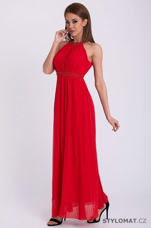 33488bceb65 Červené dlouhé šaty bez rukávů - Pink BOOm - Dlouhé společenské šaty