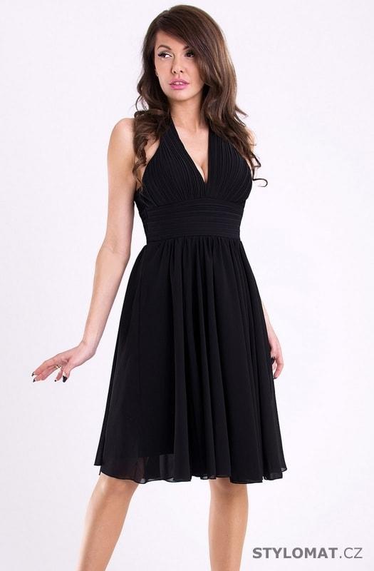 0fbc26da7dd Černé módní šaty s hlubokým výstřihem - Eva Lola - Krátké ...