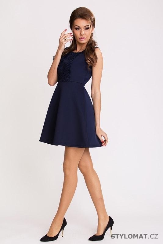 7fccbfc0945 Tmavě modré elegantní šaty - Pink BOOm - Party a koktejlové šaty