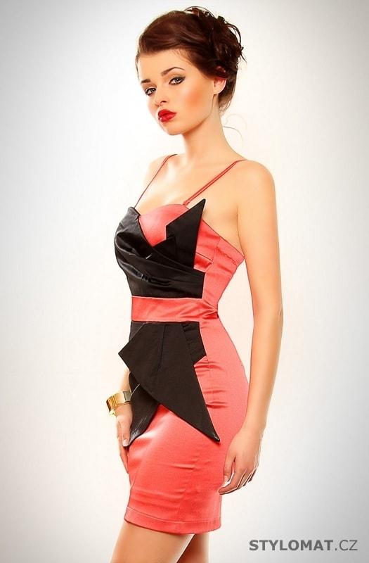 Dámské korálově červené elegantní šaty - Eva Lola - Party a ... e3c35459386