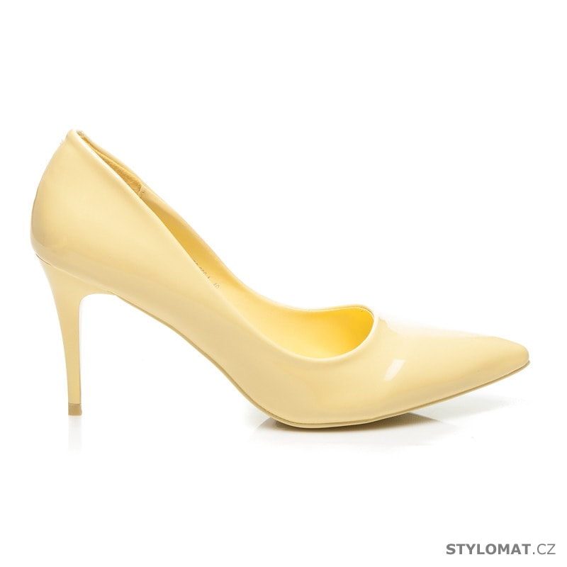 95e446d5b52 Klasické dámské lodičky žluté - Yes Mile - Lodičky