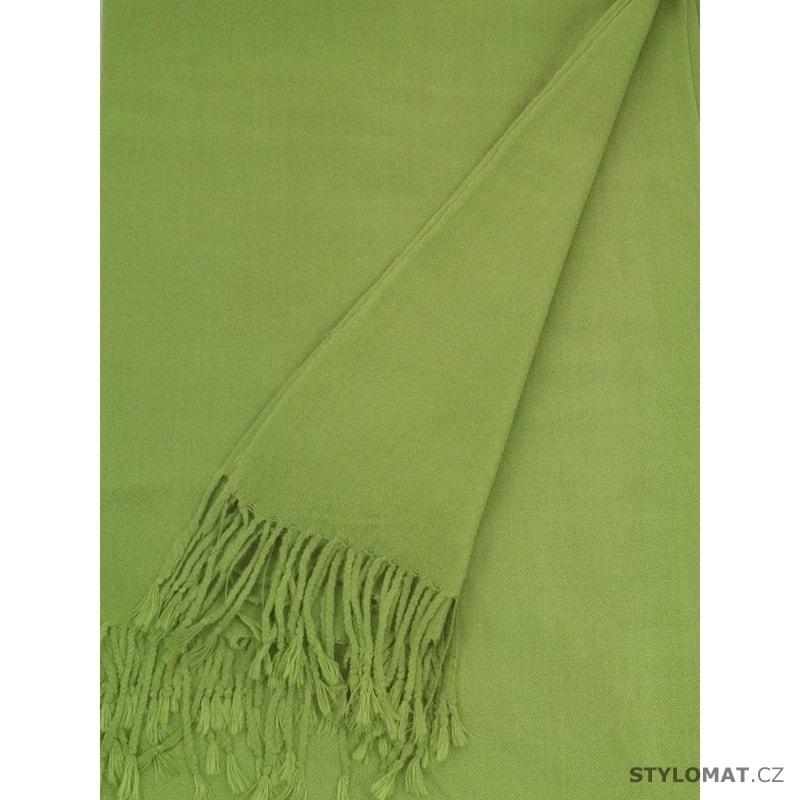 ... Dámské zimní šály    Pašmína zelená. Pašmína zelená 515044c697