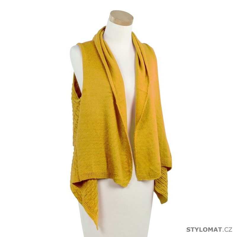 5b7301f1a73 Módní pletená vesta žlutá - Art of Polo - Dámské šály a šátky