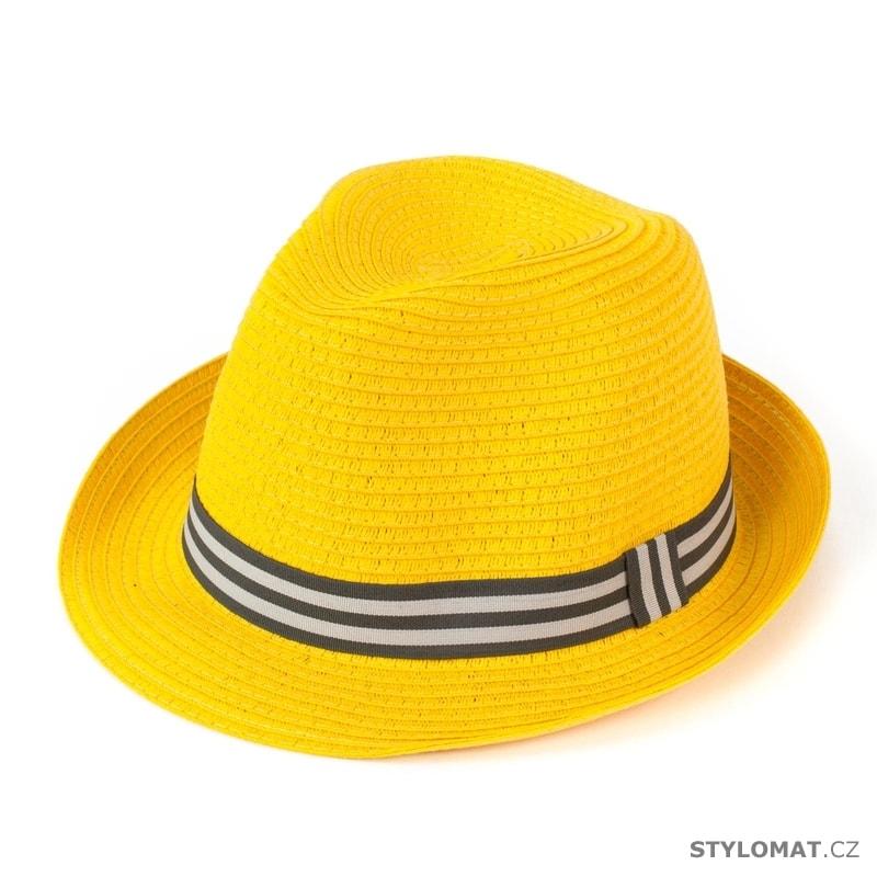 Měkký trilby klobouk na léto žlutý - Art of Polo - Dámské letní klobouky 0509d41054