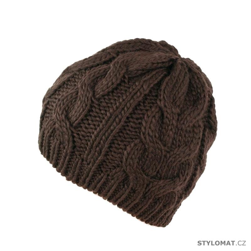 9eb22efd0c7 Zimní pletená čepice hnědá - Art of Polo - Teplé (zimní)