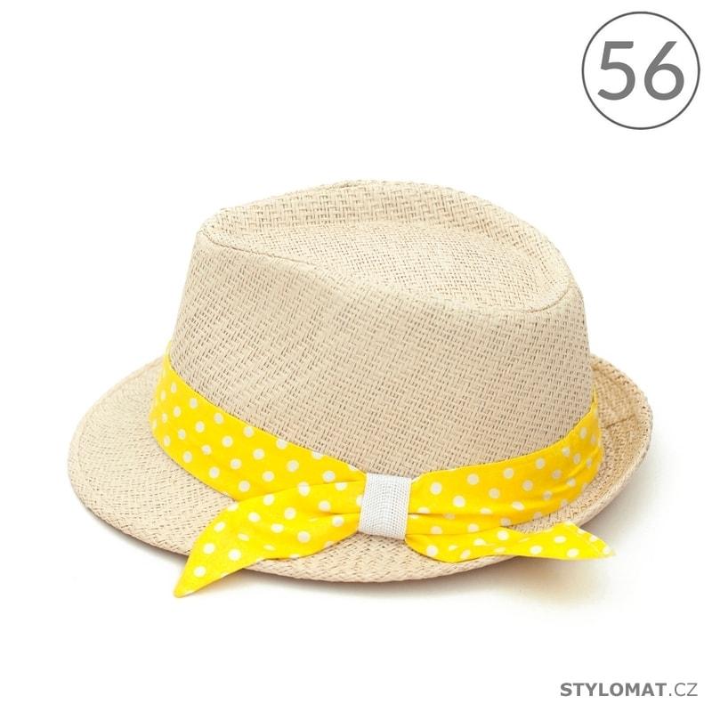 Letní klobouk zdobený žlutou puntíkovanou stuhou - Art of Polo ... 9dfc70a952