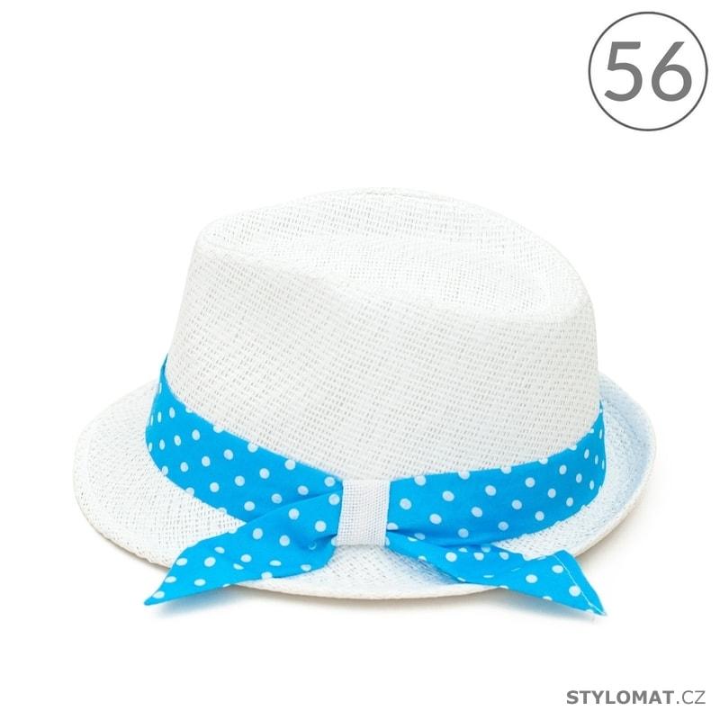 20b2ecd22dd Letní klobouk zdobený tyrkysovou puntíkovanou stuhou - Art of Polo ...