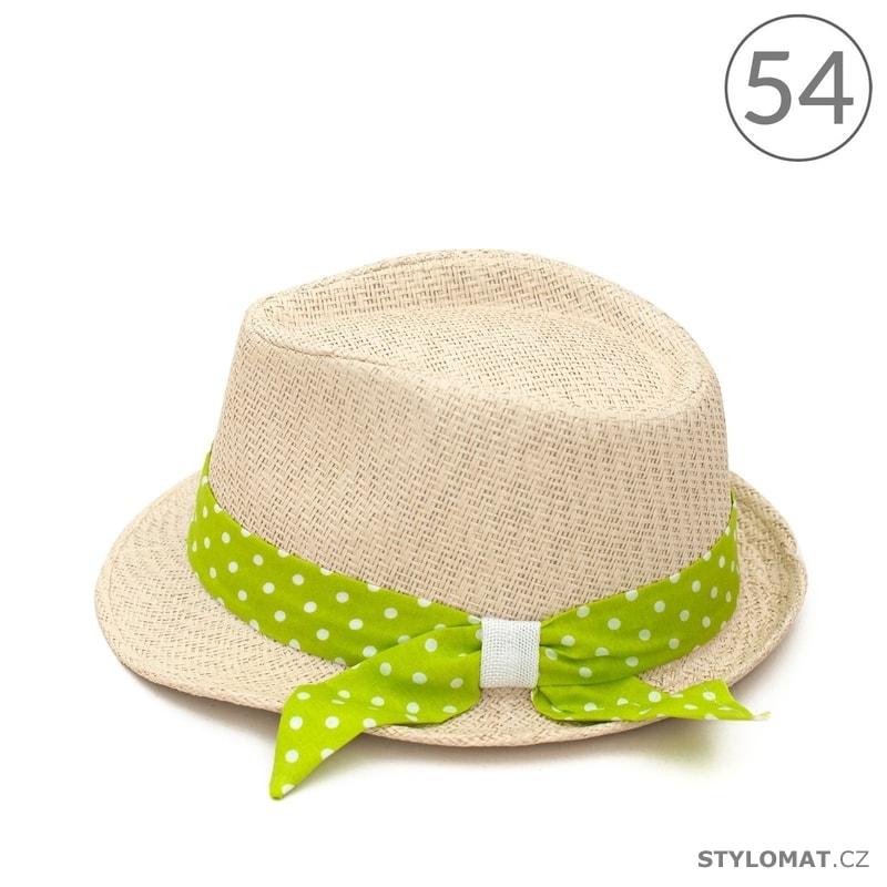 77786a61bfd Letní klobouk se zelenou puntíkovanou stuhou - Art of Polo - Dětské ...
