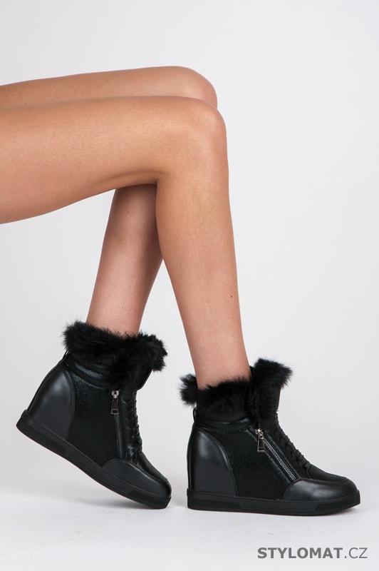 61ba1583fce Sportovní boty s kožíškem - CNB - Kotníčkové boty