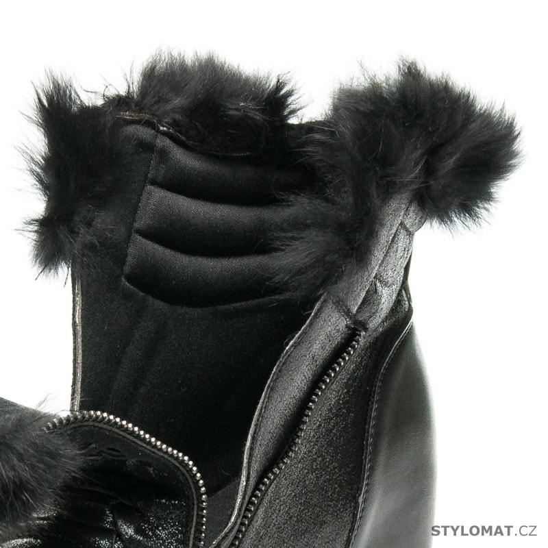 Sportovní boty s kožíškem - CNB - Kotníčkové boty cccc7721c1