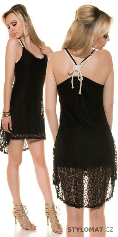 0a846bfdd66 Letní šaty černé - Koucla - Party a koktejlové šaty