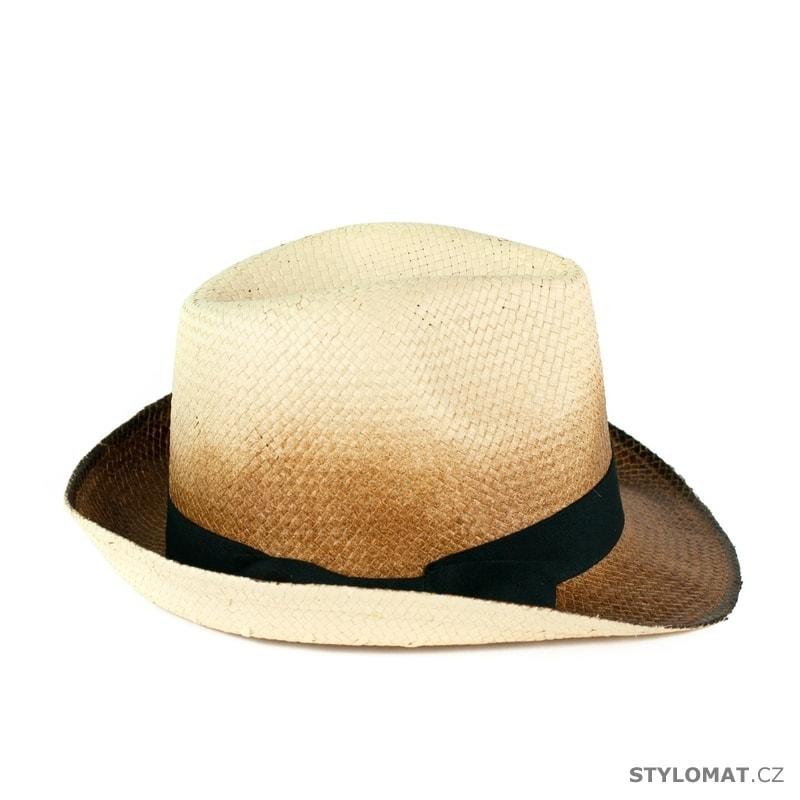 e61675fd09d Stínovaný klobouk hnědo-béžový - Art of Polo - Dámské letní klobouky