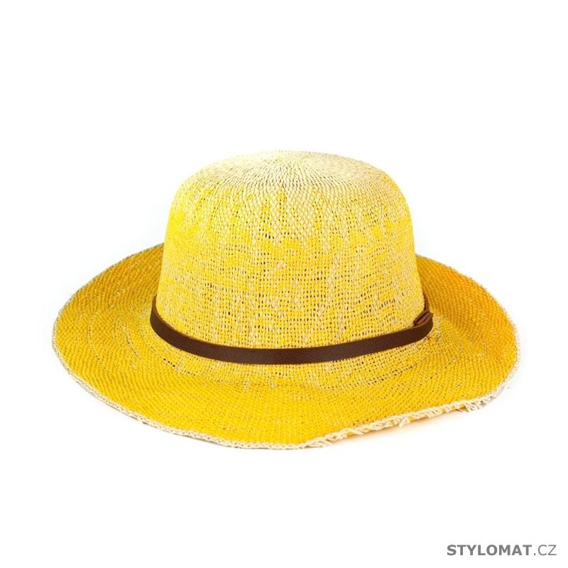 ... Dámské letní klobouky    Plážový klobouk žlutý. Plážový klobouk žlutý 08453439b5