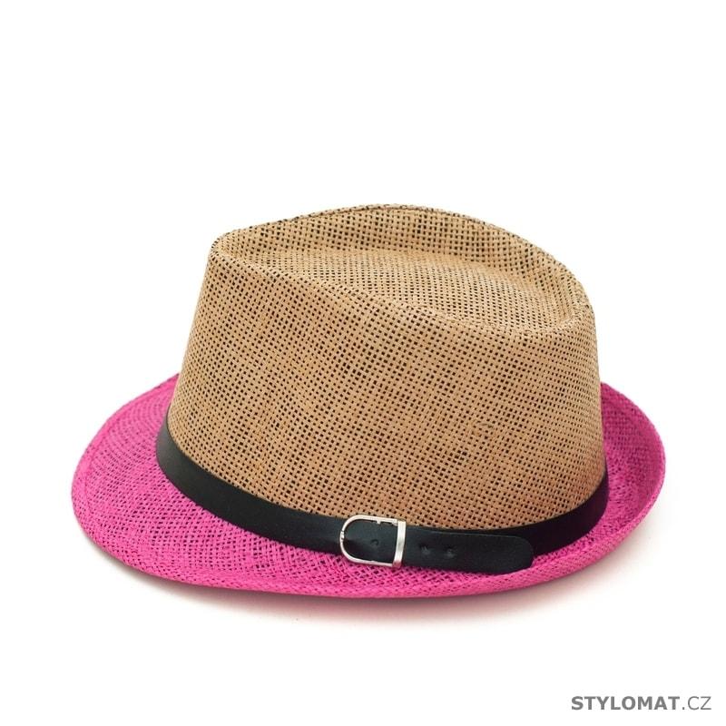 3cbc5b7bf3e ... Dámské letní klobouky    Béžovo-růžový trilby klobouk se stuhou.  Béžovo-růžový trilby klobouk se stuhou