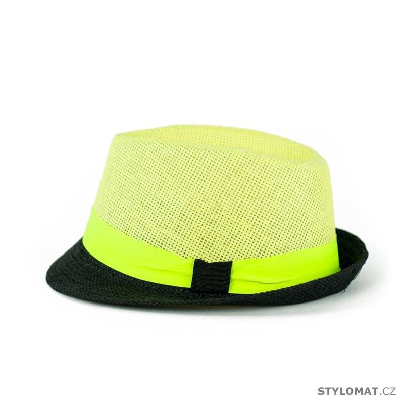 cd76fd36a53 ... Dámské letní klobouky    Žluto-černý trilby klobouk se stuhou.  Žluto-černý trilby klobouk se stuhou