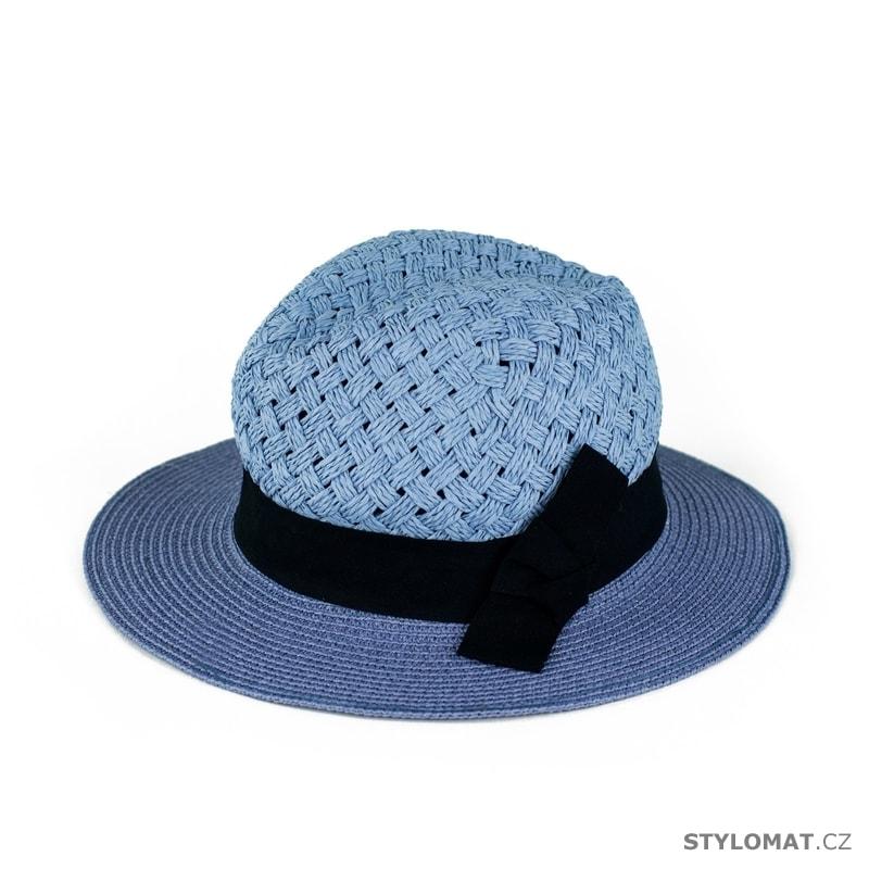 b513ff64f0e ... Dámské letní klobouky    Měkký modrý klobouk se stuhou. Měkký modrý  klobouk se stuhou