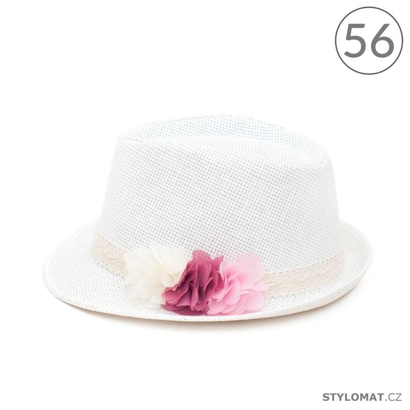 ea04671feb0 Trilby klobouk holčičí s květinami bílý - Art of Polo - Dětské klobouky
