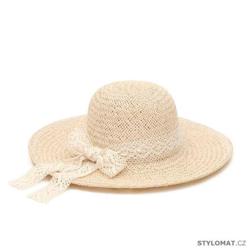 0dbd532f4e2 ... Dámské letní klobouky    Klobouk s krajkovou stuhou béžový. Klobouk s  krajkovou stuhou béžový