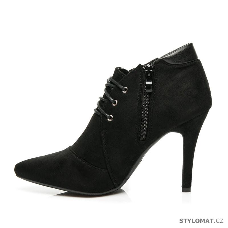 ... Kotníčkové boty    Černé šněrovací boty na jehlovém podpatku. Previous   Next 03a663841b