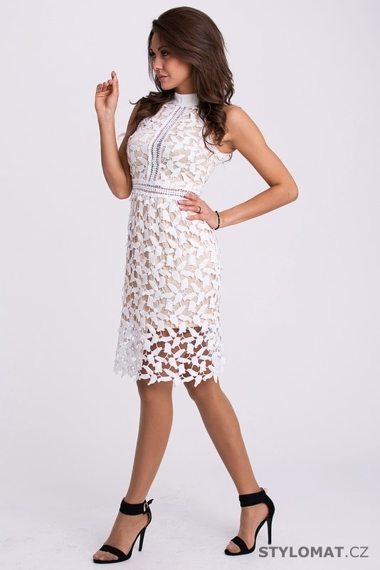 1bbe4000523 Letní bílé šaty - Emamoda - Krátké letní šaty