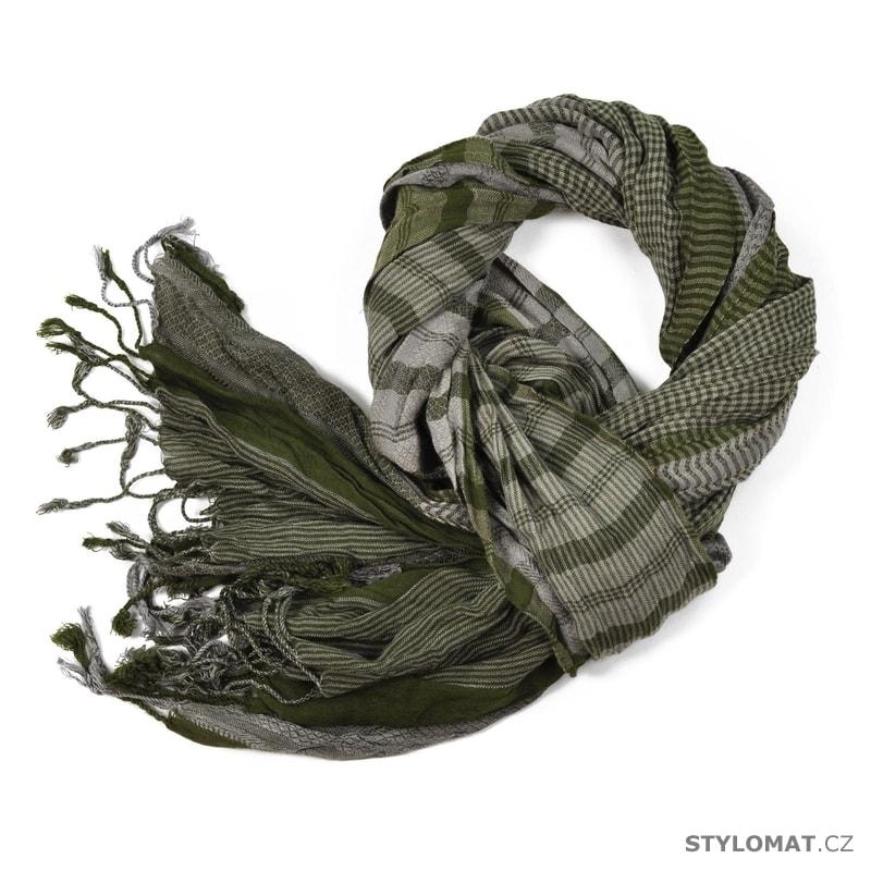 bd2154c781e Zelený zimní šál - Art of Polo - Pánské šály