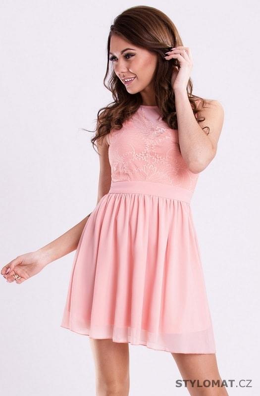 Broskvové romantické šaty - YNS - Šaty do tanečních ed4fe1725b8