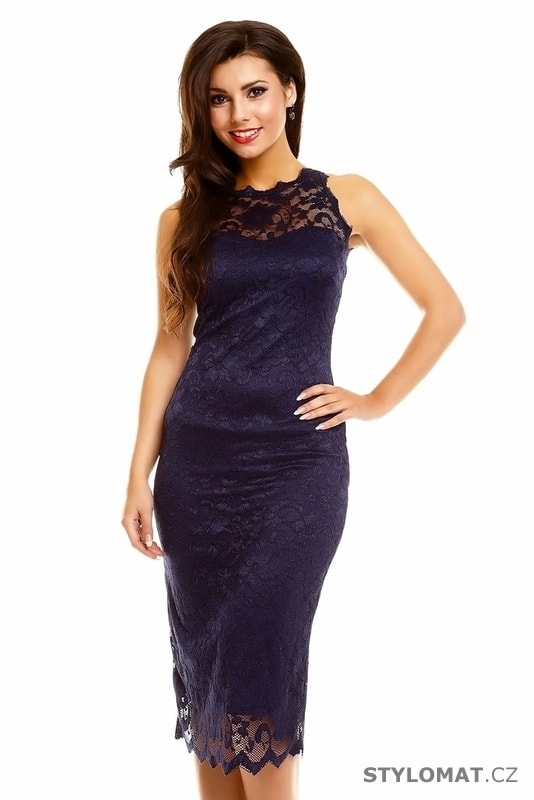 501bfcb52d6 Tmavě modré večerní šaty - Mayaadi - Party a koktejlové šaty