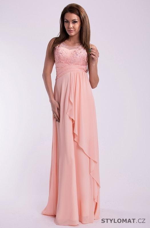bb9cb73b2d0 Luxusní růžové šaty na ples - Eva Lola - Dlouhé společenské šaty