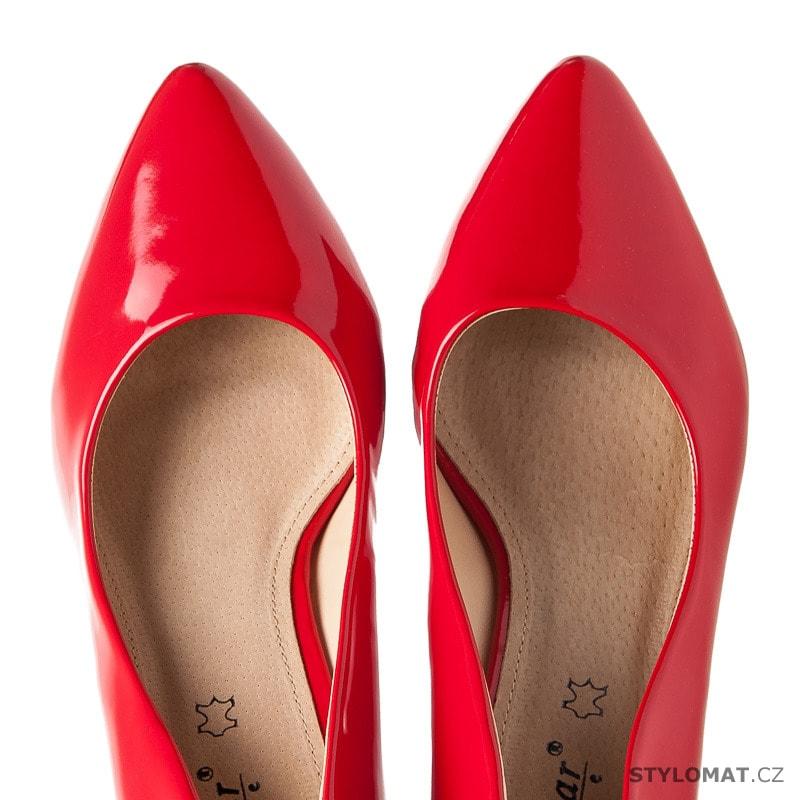 Lakované červené lodičky na kačence - SEASTAR - Lodičky 73ecd6bc55