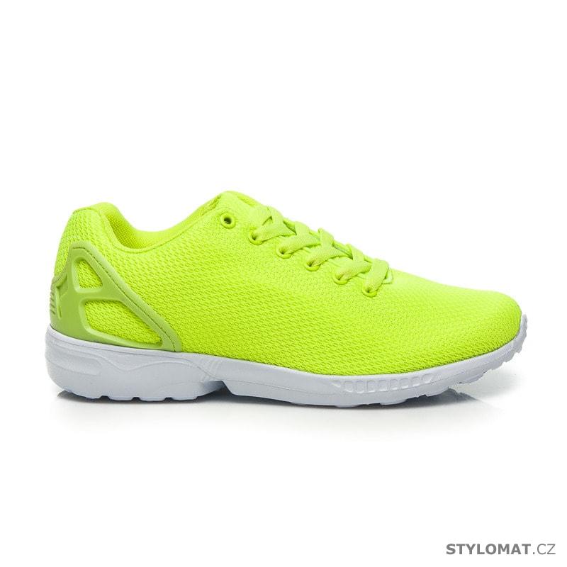 Sportovní boty neonově zelené - HAKER - Tenisky 54c0c541f48