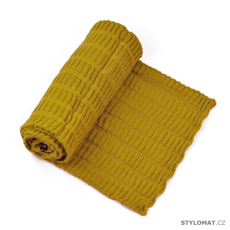 Dlouhý teplý šál na zimu žlutý - Art of Polo - Dámské zimní šály a91ad5a937