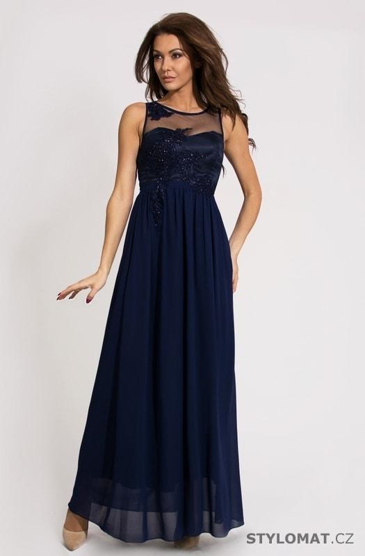 ... Dlouhé společenské šaty    Dámské dlouhé modré plesové šaty. Previous   Next b9cf1feac15