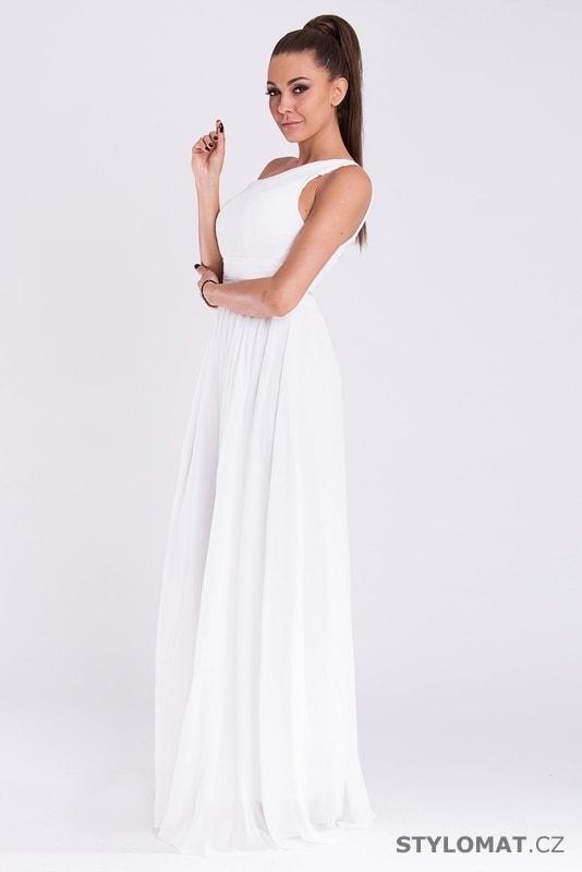 Dlouhé plesové šaty bílé - Eva Lola - Dlouhé společenské šaty 207f95036c
