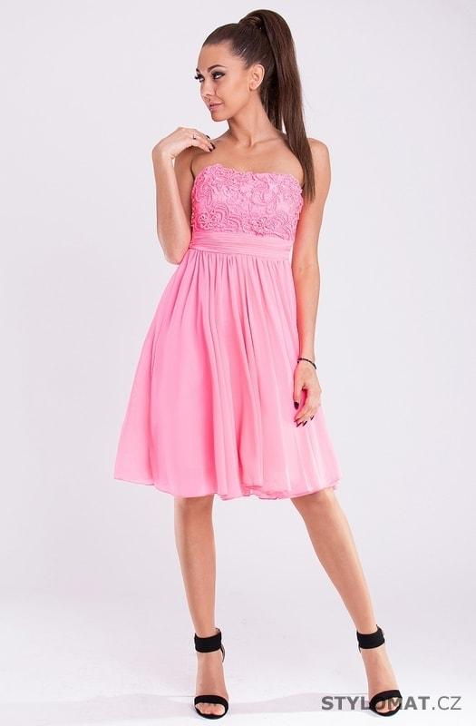 4be0a666450 Neonově růžové dámské šaty - Eva Lola - Krátké společenské šaty