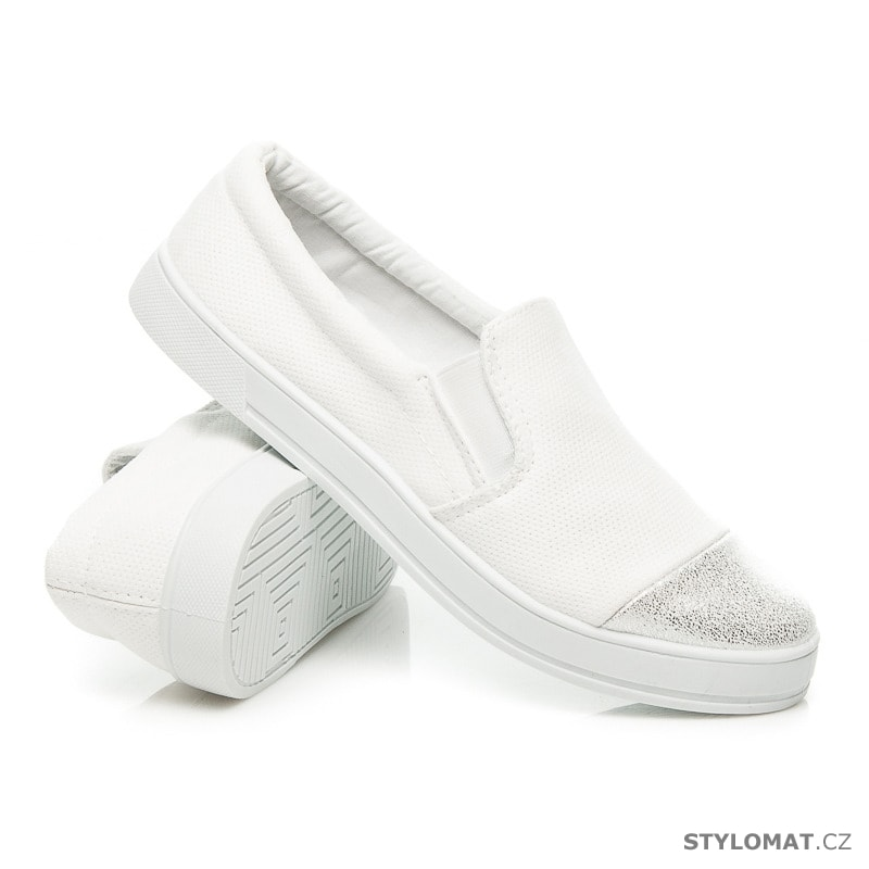 ... Módní nazouvací boty bílé. Previous  Next d4b62fcf70