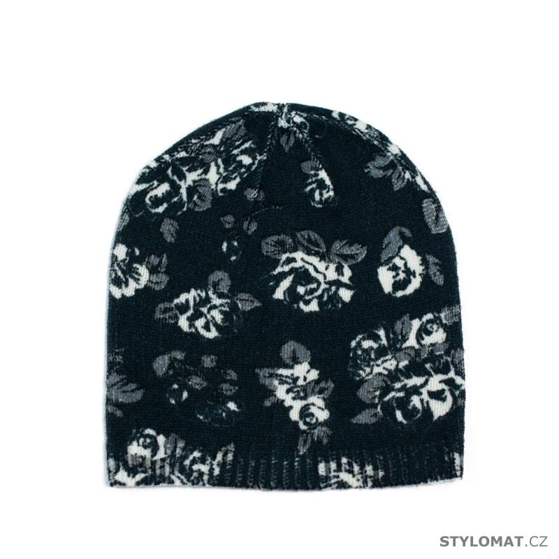 Čepice s květinovým potiskem černá - Art of Polo - Tenké (podzimní ... b567b0fb4f