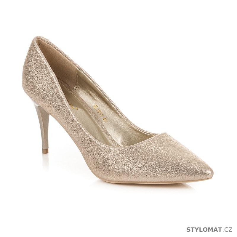 444b871fa03 ... Dámská obuv    Lodičky    Třpytivé zlaté lodičky. Previous  Next