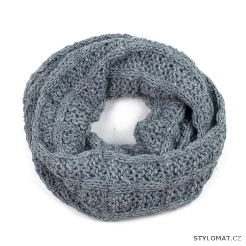 Pletená kruhová šála šedá - Art of Polo - Dámské zimní šály 3008da12e9
