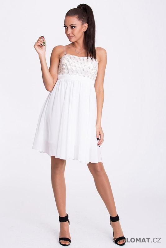 417ec8cdc8a ... Krátké společenské šaty    Úzké bílé šaty s krajkou. Previous  Next