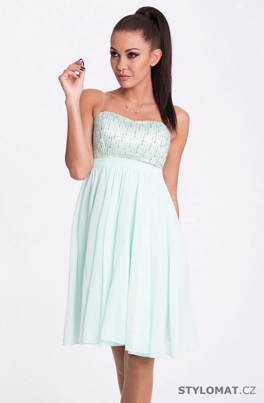 c6e7ad4bfb0 Eva a Lola šaty - pistáciové - Eva Lola - Krátké společenské šaty