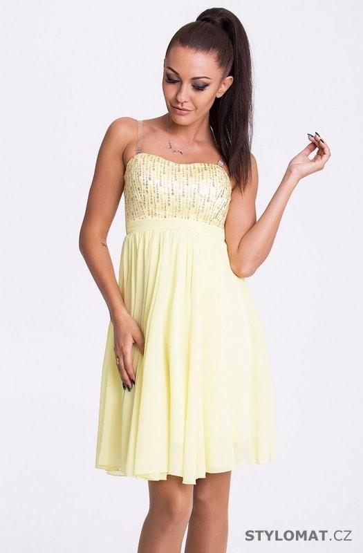 ... Krátké společenské šaty    Eva a Lola šaty citrónové. Previous  Next 74e2e76a23