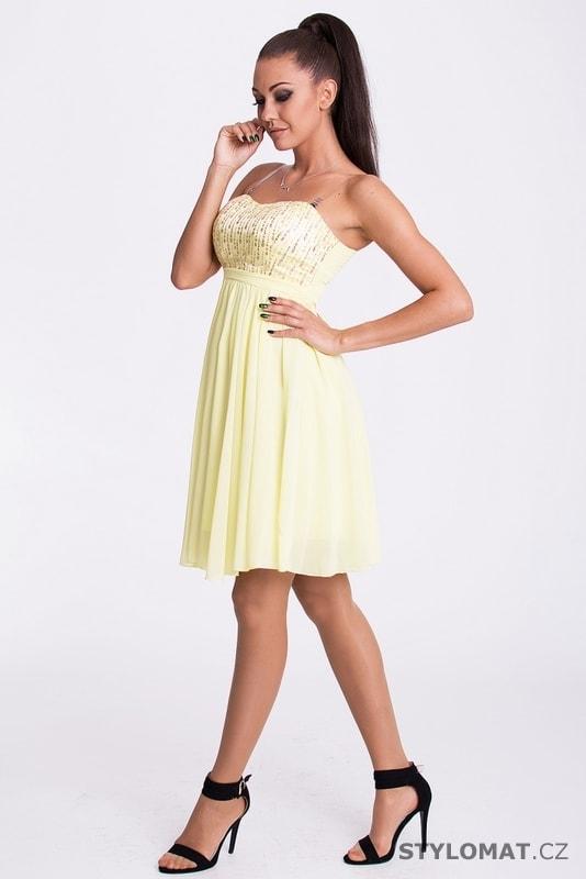 Eva a Lola šaty citrónové - Eva Lola - Krátké společenské šaty 1f64c541ad
