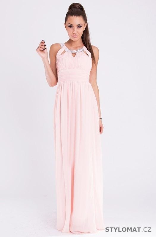 Eva a Lola šaty růžové - Eva Lola - Dlouhé společenské šaty 6351842317