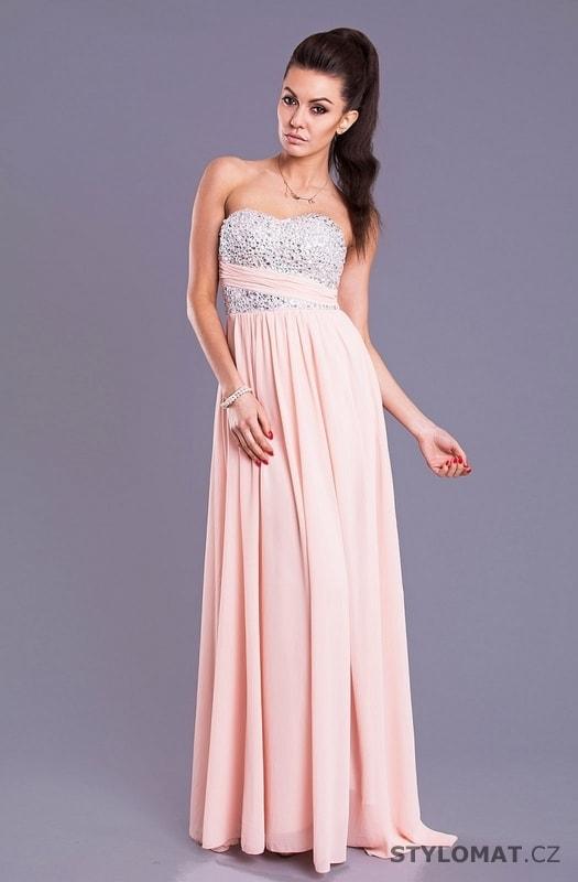 e6f7cfce443 Eva a Lola světle růžové šaty - Eva Lola - Dlouhé společenské šaty