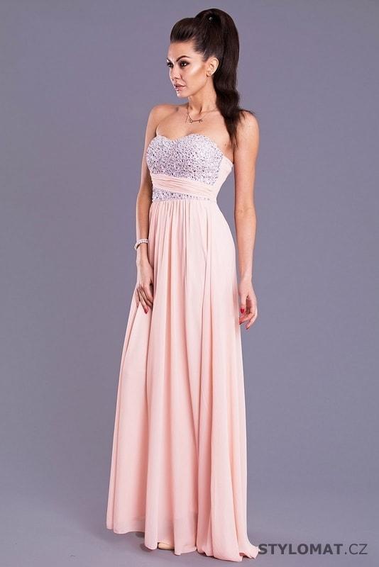 Eva a Lola světle růžové šaty - Eva Lola - Dlouhé společenské šaty f57889ffcc