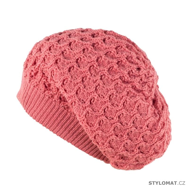 Zimní spadlá čepice růžová - Art of Polo - Teplé (zimní) a7b4377a83