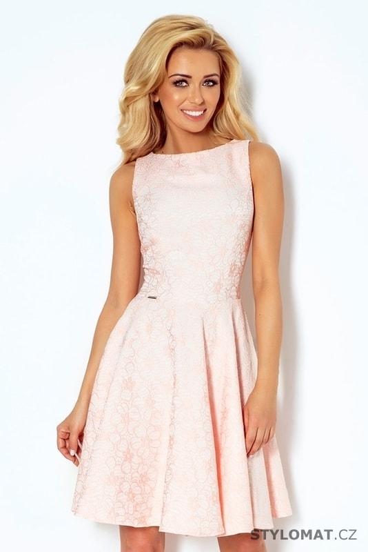 4f625d5263d Světle růžové dámské šaty 98-5 - Numoco - Krátké společenské šaty