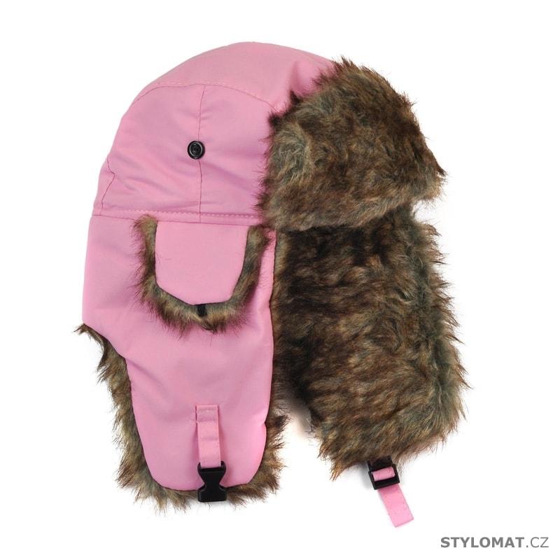 Dámská kožíšková ušanka světle růžová - Art of Polo - Zimní dámské ... 9db4796cf2