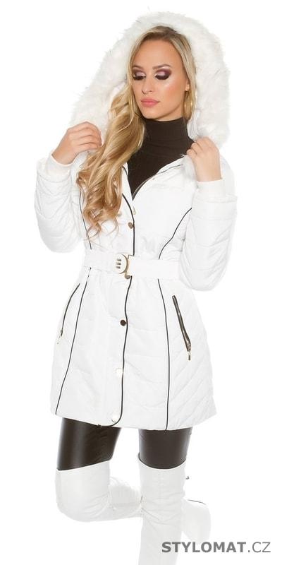 Bílá dámská bunda - Koucla - Zimní bundy e8c869d9386